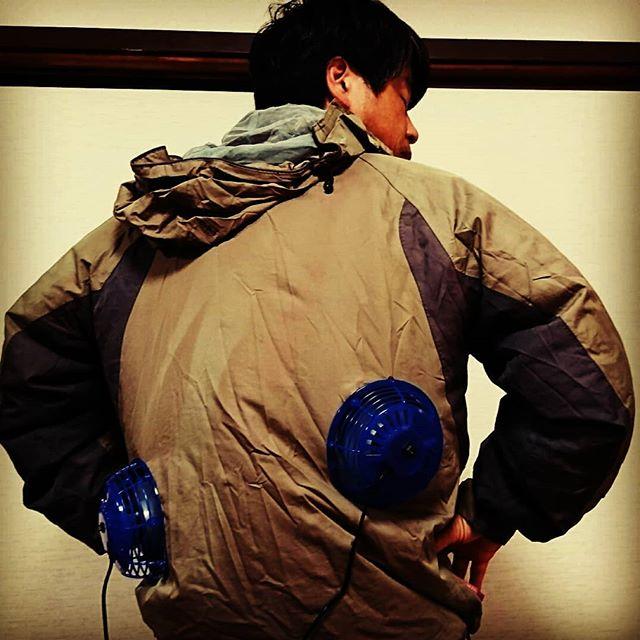 自作空調服を作ってみました。これでこの暑さを乗り切りたいと思います。#蜂蜜#生はちみつ #honey#非加熱はちみつ #無添加ハチミツ #ハニーセラー熟成#国産はちみつ #山口県産ハチミツ#miel#スーパーフード#rawhoney